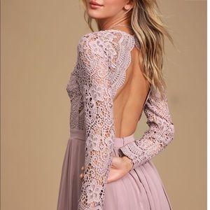 Lulus Awaken My Love Dusty Lavender Maxi Dress